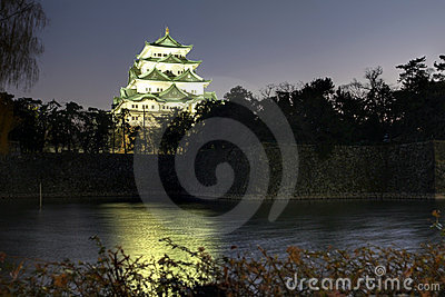 Nagoya Castle at night, Japan