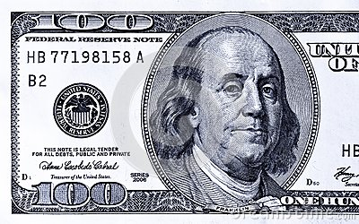 Nahaufnahme 100 Dollar