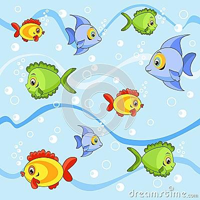 Nahtlos mit Fischen.