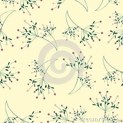 Nahtloser Blumenmuster-Gelbhintergrund