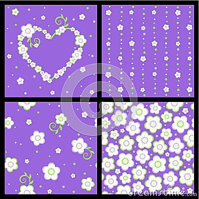 Nahtloser Frühling und Valentinsgrußblumenmuster