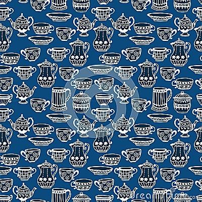 Nahtloser Hintergrund der Teeschale