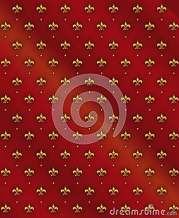 Nahtloser königlicher Lilienhintergrund