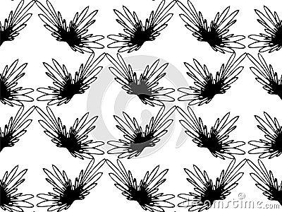 nahtloses abstraktes einfarbiges blumenmuster exklusive dekoration passend fr gewebe gewebe und verpackung vektor abbildung bild 75009711 - Exklusive Dekoration