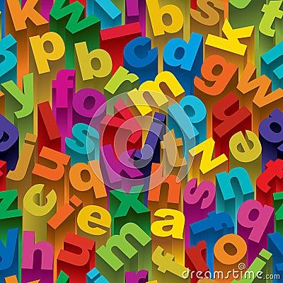 Nahtloses Alphabet-Muster