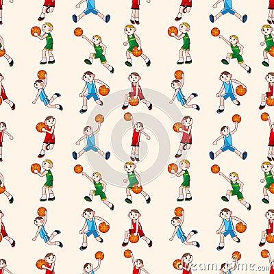 Nahtloses Basketballmuster