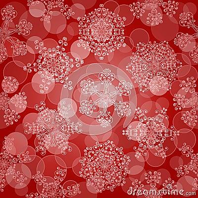 Nahtloses Muster mit Schneeflocken