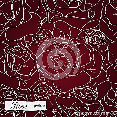 Nahtloses Muster Rose