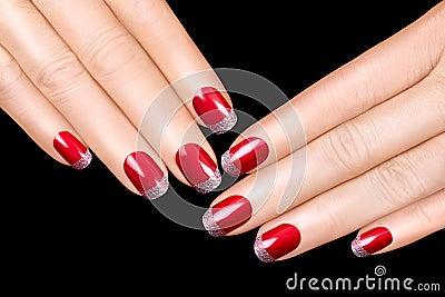nail art luxury nail polish nail stickers stock photo image