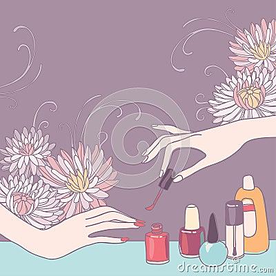Nail Art Salon Stock Photo Image 39153782