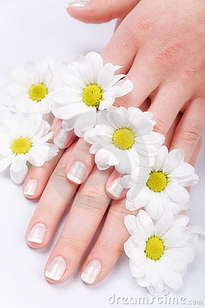 Nail care and daisies