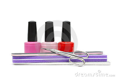 Nail care and polish. Manicure or pedicure