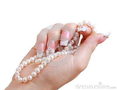 Nail extension beautiful manicure