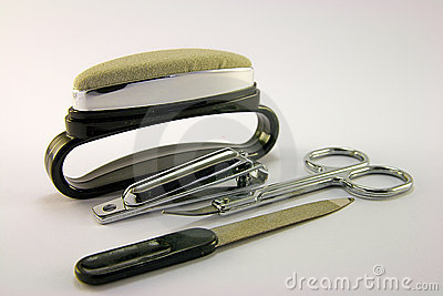 Nail File with Buffer, Scissors and Clippers