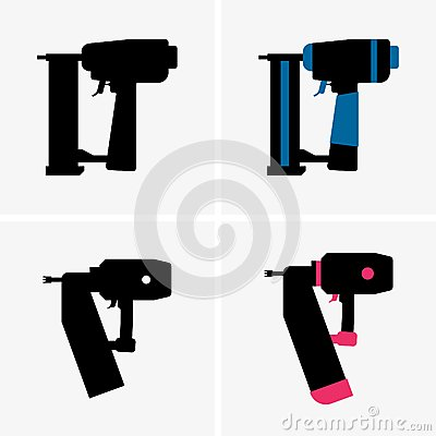 Free Nail Gun Royalty Free Stock Images - 72056529