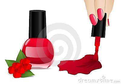 Nail polish, cdr vector