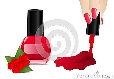 Nail polish, cdr vector