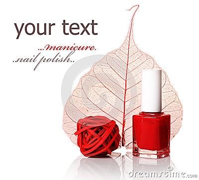 Nail polish.Manicure