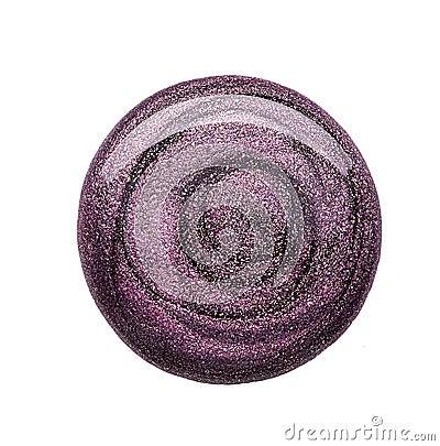 Free Nail Polish Of Dark Purple Fashionable Color Stock Image - 108621271