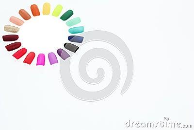 Nail polish rainbow