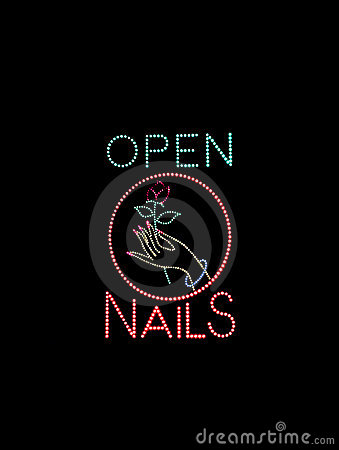 Nail Salon Open Sign