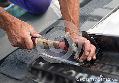 Nailing on metal sheet