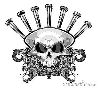 Free Nailing Skull Stock Photo - 49417920