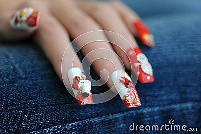 Nails for Christmas time