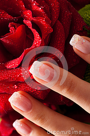 Nails and rose