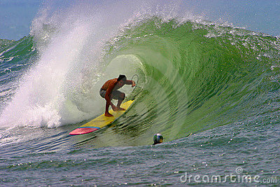 Nainoa Ciotti Surfing at Bowls in Hawaii Editorial Photo