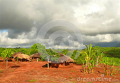 NAIOPUE, MOZAMBIQUE - DECEMBER 7, 2008: the Settlement. A reside Editorial Stock Image