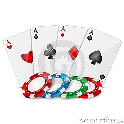 Naipes y fichas de póker