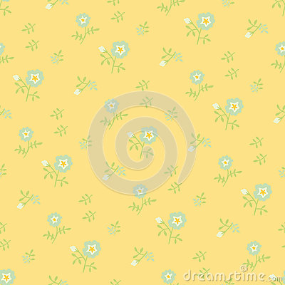 Naive flowers, yellow