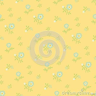 Naive flowers, yellow