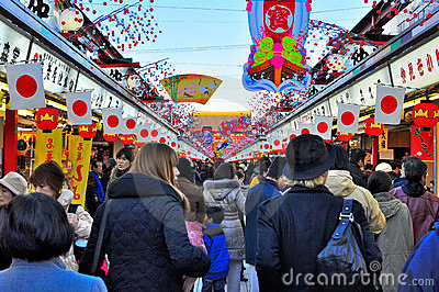 Nakamise dori, Sensoji, Asakusa, Tokyo, Japan Editorial Stock Image