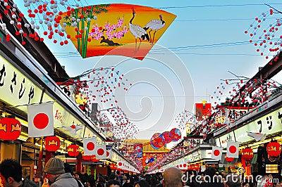 Nakamise dori, Sensoji, Asakusa, Tokyo, Japan Editorial Photo