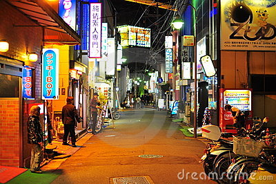 Nakasu red light district in Fukuoka Japan Editorial Stock Image