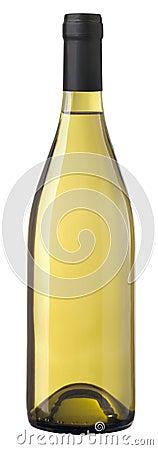 Free Naked Bottle Of Chardonnay Wine Royalty Free Stock Photography - 334287