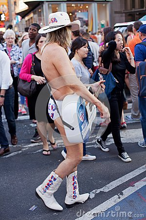 Naked Cowboy Editorial Photography