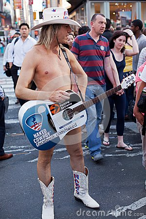 Naked Cowboy Editorial Stock Photo
