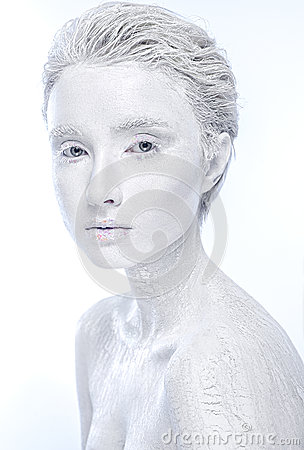 Free Naked Frozen Female, Woman Covered In Ice Stock Photography - 89309262