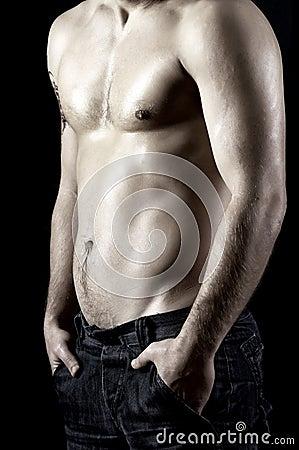 Naked male model