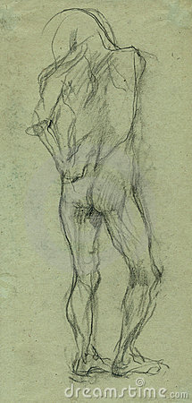 Naked man 2 - sketch