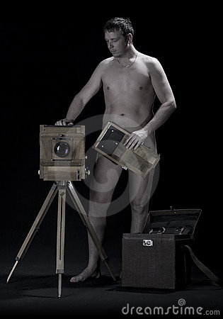 Naked photographer