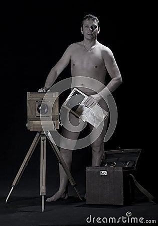 Naked photographer