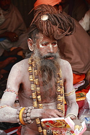 NAKED SAINT,Holy Men of India. Editorial Stock Photo