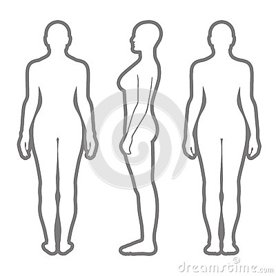 Free Naked Standing Woman Silhouette Stock Photography - 89598502