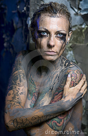 Naked Tattooed Woman Stock Photo - Image: 15214180