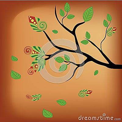 Naked tree in autumn