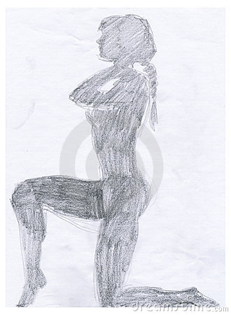 Naked woman´s shadow